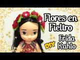 DIY Flores de fieltro inspirado en Frida Khalo Diadema Vincha con Flores de tela