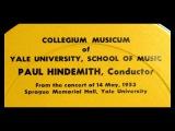 Monteverdi Paul Hindemith, 1953 Lagrime d'Amante al Sepolcro dell'Amata