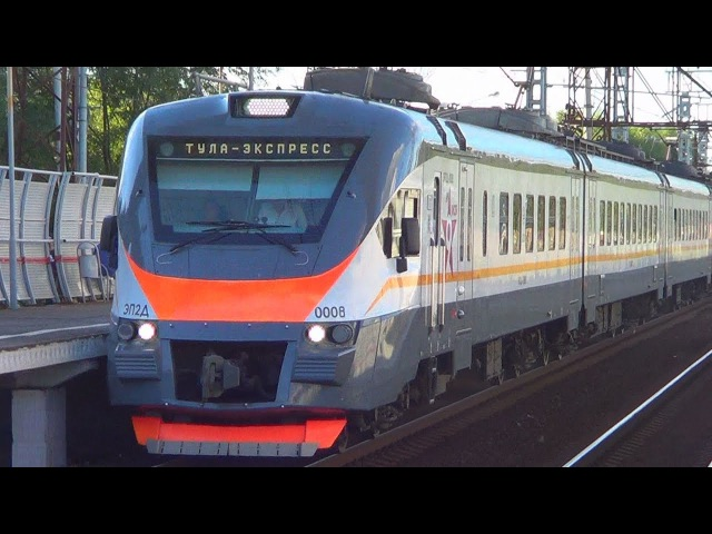 Электропоезд ЭП2Д-0008 ЦППК экспресс Москва - Тула приветливая бригада:-)