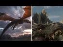 Драконы в Игре Престолов. Отличия книжных от сериальных.