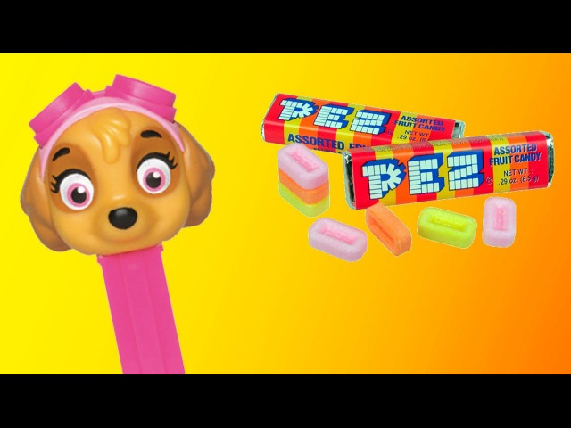 Paw Patrol PEZ Candy Toys for kids funny Sky toy YummyToys