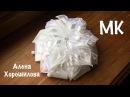 пышный бант в школу из лент МК Канзаши Алена Хорошилова tutorial diy ribbon bows kanzashi из орг
