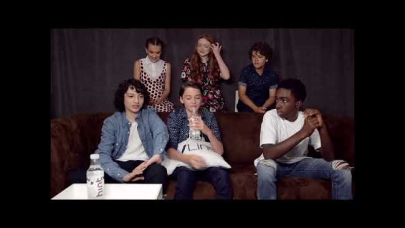 ( Русс. Субтитры) Strangers Things Cast Interview Comic Con 2017 TVLine