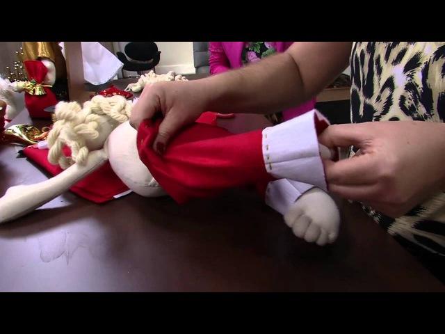 Mulher.com 17/12/2014 - Papai Noel boneco por Jo Cruz - Parte 2/2