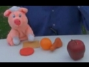 Learn Spanish with the naughty pink pig puppet - for kids