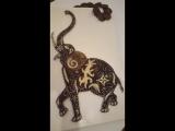 Картина Индийский слон в технике String Art. Tarasova Alla.