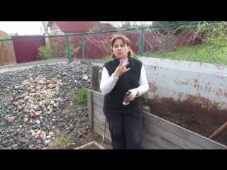 Плодородная земля с компостного ящика