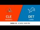 NFL 2017 / W10 / Cleveland Browns - Detroit Lions / CG / EN
