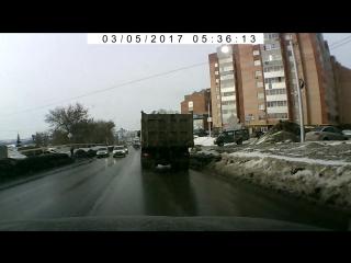 Наезд на пешехода в Уфе на ул. С. Перовской 07.03.2017 г.