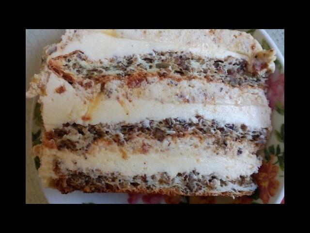 Торт Египетский или Крем-брюле с орехами