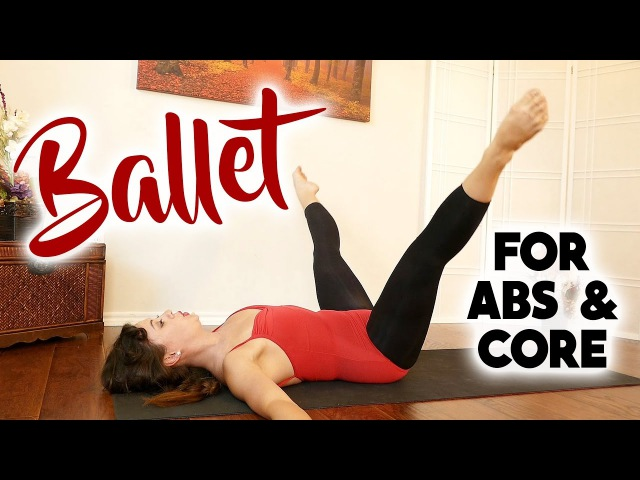 Beginners Ballet Workout for Core Strength, Abs, Belly Fat, Body Toning Exercises, 20 Minute Fitness