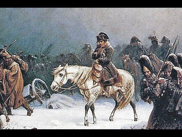 Бегство Наполеона из Москвы в Париж - изобразительная шахматная композиция