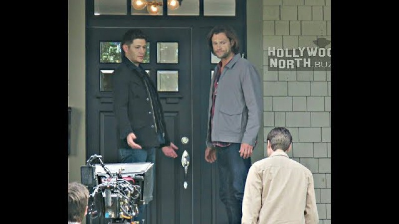 J2 and Alex(Jack-The Nephilim) on set of Supernatural 13x04