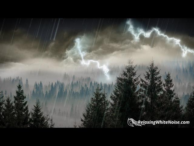 10 Hours Rain Thunder | Rainstorm Sounds for Sleep, Studying or Relaxation | Nature White Noise » Freewka.com - Смотреть онлайн в хорощем качестве