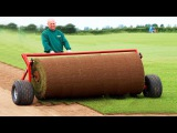 Primitive Technology vs World Modern Artificial Turf Sod Installer Progress Mega Machines Tractor