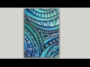 Acrylic Painting Abstract Doodle and Dot Painting Tutorial