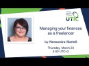 Managing your finances as a freelancer. Alessandra Martelli. UTICamp webinar-2017