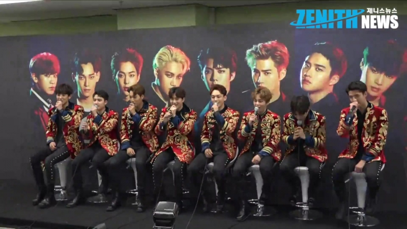 [ZENITH] 170528 The EXO'rDIUM [dot] in Seoul: Press Conference @ EXO