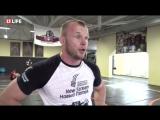 Александр Шлеменко тренируется перед боем ММА