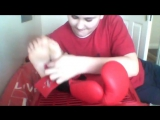 Two boys tickle each other's feet - pt 2