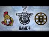 Stanley Cup Playoffs 2017 R1 Game 4 Ottawa Senators-Boston Bruins