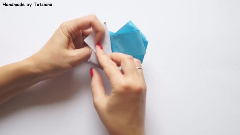 Брошь из репсовых лент Мастер-класс _ How to make brooch, grosgrain ribbon, Tuto