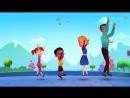 Little Miss Muffet Детские песенки на английском. С титрами. Учите английский вместе с ребенком.