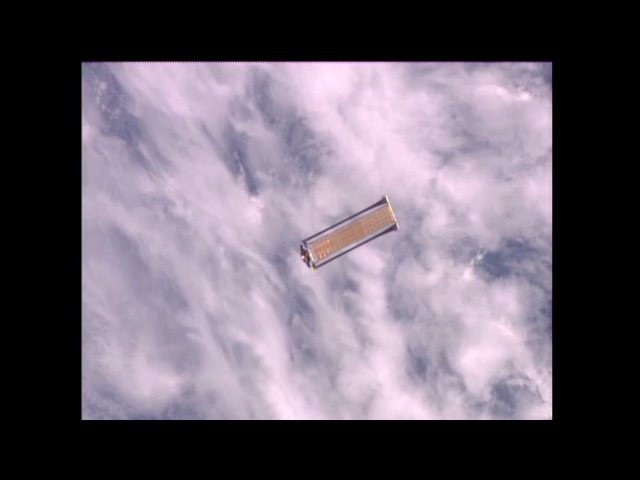 Roll-Out Solar Array (ROSA) Jettisoned From Space Station