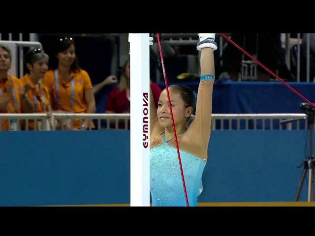 Панамериканские игры 2015. Спортивная гимнастика. Женщины. Разновысокие брусья. Джессика Лопес (Венесуэла) - серебро