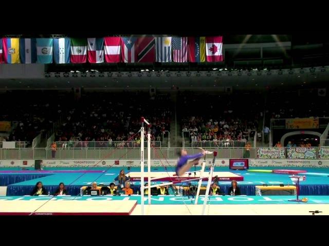 Панамериканские игры 2015. Спортивная гимнастика. Женщины. Разновысокие брусья. Рэйчел Гоуи (США) - золото