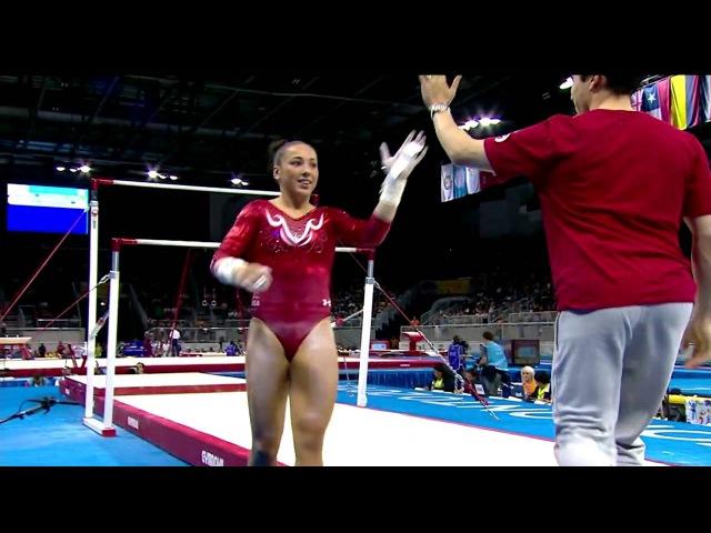 Панамериканские игры 2015. Спортивная гимнастика. Женщины. Разновысокие брусья. Амелия Хандли (США) - бронза