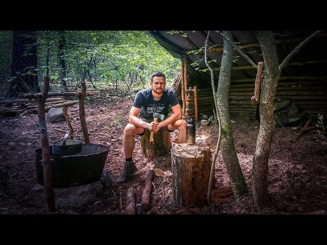 Bushcraft Super Shelter - Survival Camp 2.0 Lager Lagerbau - Deutschland deutsch 007