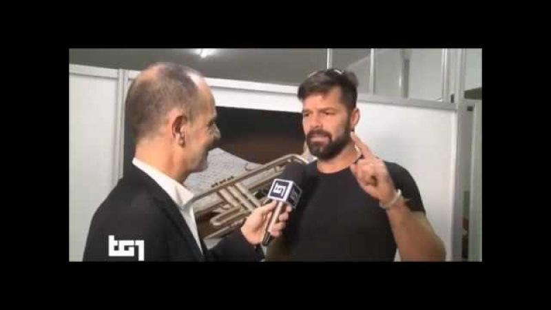 (ENTREVISTA) Ricky Martin en Itália habla con TG1 07.02.17 SanRemo, Italy