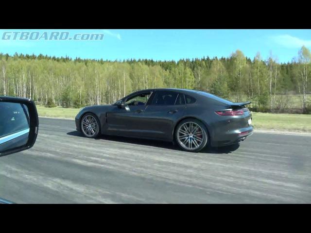 [4k] Cadillac CTS-V (649 HP) vs Porsche Panamera Turbo (550 HP)