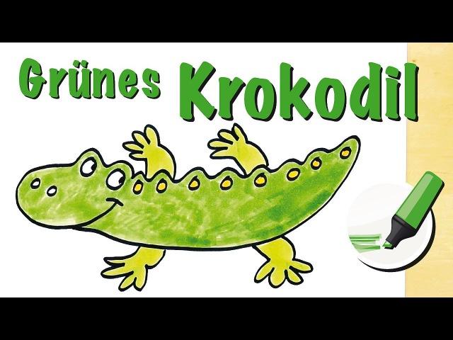 Krokodil zeichnen lernen: Der blitzschnelle Jäger - How to draw a Crocodile (Cartoon)
