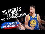 Stephen Curry Full Highlights 2017.11.18 at 76ers - 35 Pts, 5 ASTS, 3rd Quarter EXPLOSiON!