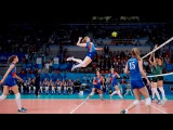 TOP 50 Best Women's Volleyball Spikes  3rd Meter Spikes  Powerful Spikes