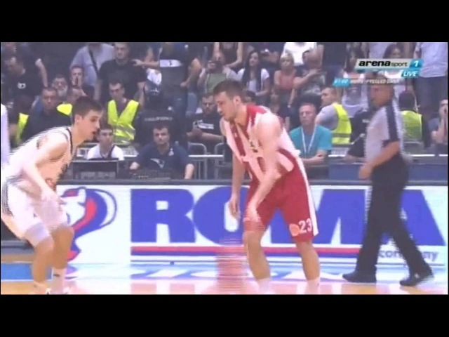 Marko Guduric trojka sa parkinga u poslednjoj sekundi za pobedu Partizan Crvena zvezda 86 87
