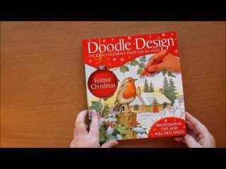 Doodle Design Festive Christmas Colouring Book Flip through