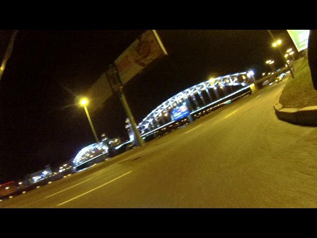15 oct 2017 Ride on Peter the Great Bridge in Saint-Petersburg