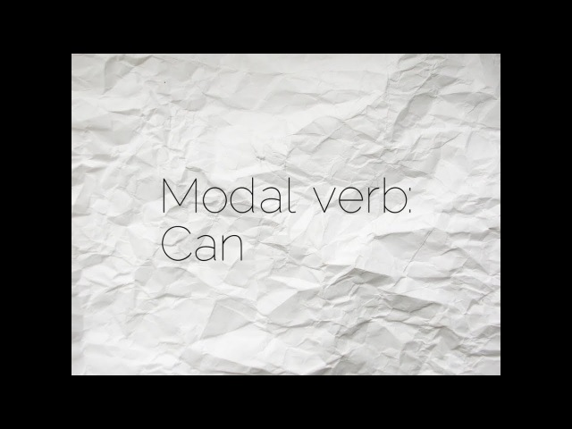Modal verb Can
