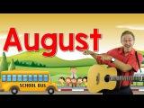 August  Back to School Song  Calendar Song for Kids  Jack Hartmann