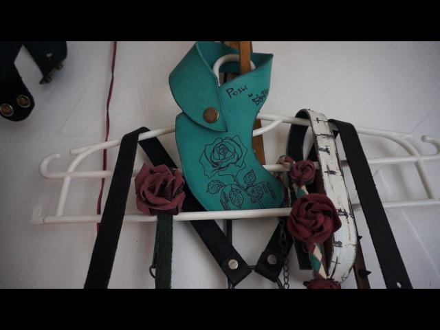Портупея Берёза и чокеры коллекции Розы и Берёзы