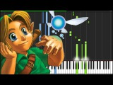 Lost Woods - The Legend of Zelda Ocarina of Time Piano Tutorial (Synthesia) Anifuse