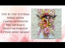 Step by step tutorial Mixed media canvas motivator
