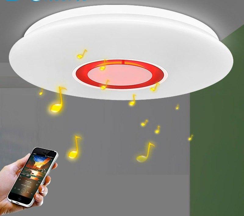 Светящиеся Музыкальные Потолочные СВЕТИЛЬНИКИ А задавать цвет и музыку можно с телефона как с пульта
