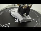 На видео показано, как происходит печать модели на принтере Prism PRO V2 (FDM) пластиком PLA.