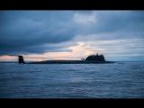 Пуск крылатой ракеты морского базирования Калибр экипажем АПЛ Северодвинск из акватории Баренцева моря