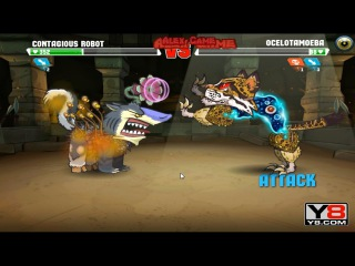 Mutant Fighting Cup 2 (South America Cup 12) Contagious Robot VS Ocelotamoeba (Dog Part 72)