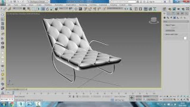 3D Max 2017 Chair Modeling Tutorial